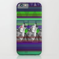 iPhone & iPod Case featuring Wolves- Blue by Boni Dutch