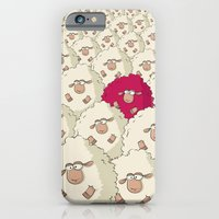 iPhone & iPod Case featuring Sheep Pattern | Pink by Gal Ashkenazi