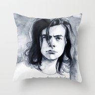 Harry Watercolors B/N Throw Pillow