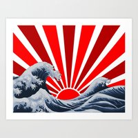 Great Wave Of The Rising… Art Print