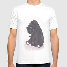 Bear SMALL Mens Fitted Tee White