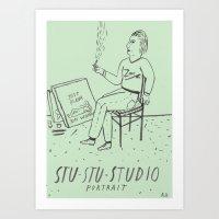 Stu-Stu-Studio Art Print