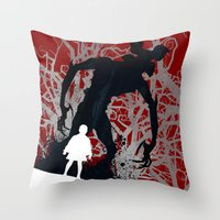 UPSIDE DOWN - TV Series | 80's | Cult | TV | Monster | Forest | Eleven | Movie | Poster Throw Pillow