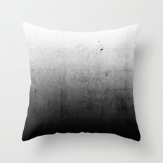 Black Ombre Concrete Tex… Throw Pillow
