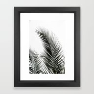 Framed Art Print featuring Palm Leaves by Mareike Böhmer Phot…