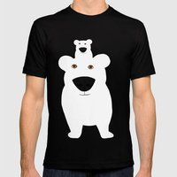 Winter - Polar Bear 2 Mens Fitted Tee Black SMALL