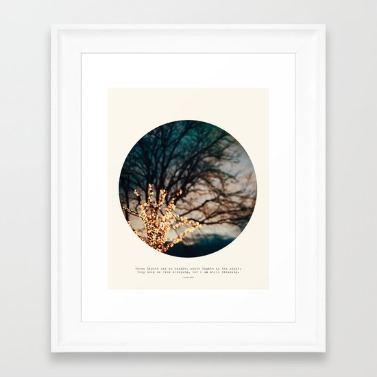 White Lights Framed Art Print