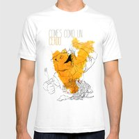 Comes como un cerdo (you eat like a pig) Mens Fitted Tee White SMALL