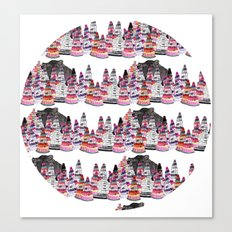 Bear and macaroons!  Canvas Print