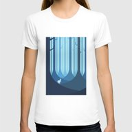 Blue Forest Womens Fitted Tee White SMALL