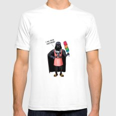 Darth Vader SMALL Mens Fitted Tee White