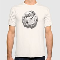White Trash Mens Fitted Tee Natural SMALL