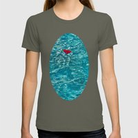 Petal Pool Womens Fitted Tee Lieutenant SMALL