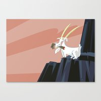 Trashmouth Goat, The Fro… Canvas Print