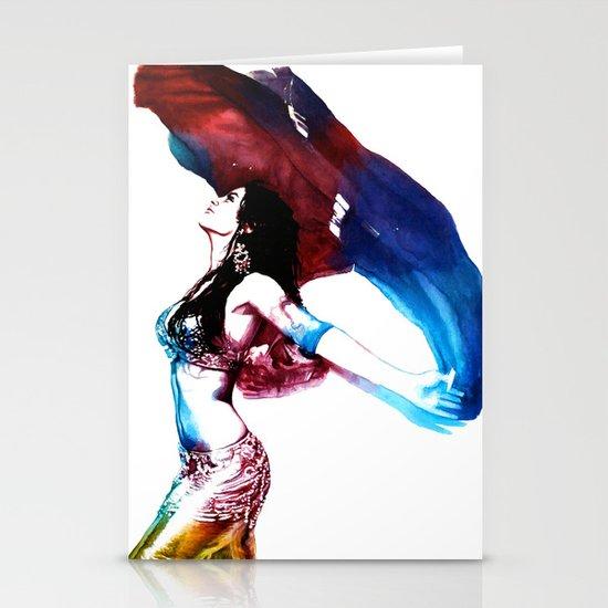 Rainbow Dancer Stationery Card