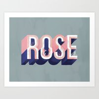 The Painted Rose Art Print