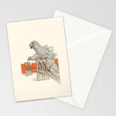 Godzilla vs. the Brooklyn Bridge Stationery Cards