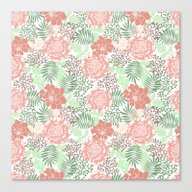 Floral Delicate. Summer … Canvas Print
