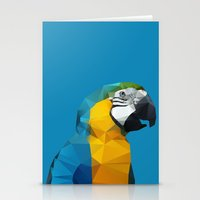 Geo - Parrot Stationery Cards