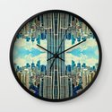 NYC in patterns Wall Clock