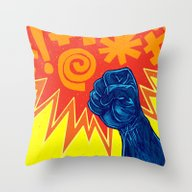 Throw Pillow featuring Superheroes SF by Nick Volkert