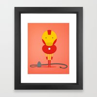My ironing Hero! Framed Art Print