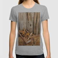 Rusted Tools Womens Fitted Tee Athletic Grey SMALL