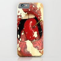 Red Cherry Lips iPhone 6 Slim Case