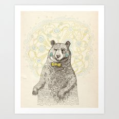 Smarter than the average bear Art Print