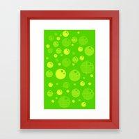 Bubblemagic - Lime Framed Art Print