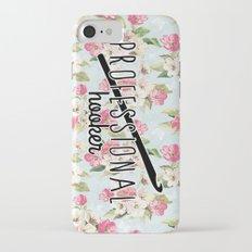 funny crochet vintage floral professional hooker Slim Case iPhone 7