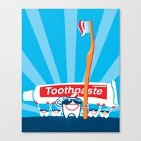 Teeth on Parade Canvas Print