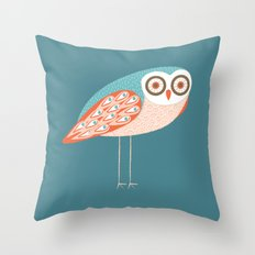 Long Legged Owl Throw Pillow