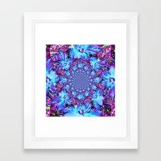 Blue Daffodil Kaleidoscope Framed Art Print