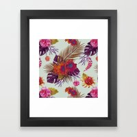 TROPICAL FLORAL PASSION Framed Art Print