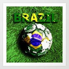 Old football (Brazil) Art Print