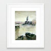 MAIDEN'S TOWER Framed Art Print