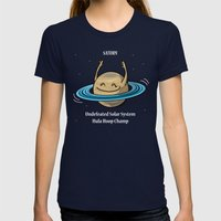 Saturn: Undefeated Hula … Womens Fitted Tee Navy SMALL