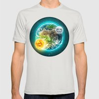 The Earth Mens Fitted Tee Silver SMALL