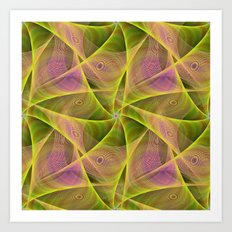 Fractal Veils Art Print