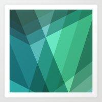 Fig. 046 Mint, Sea Green… Art Print