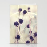Charcoal stems Stationery Cards