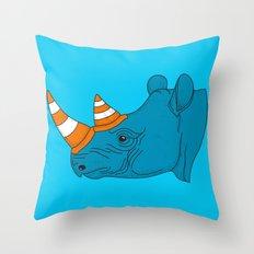 Rhino Video Player Throw Pillow