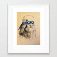 Leo TMNT Framed Art Print