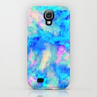 Galaxy S4 Cases featuring Electrify Ice Blue by Amy Sia