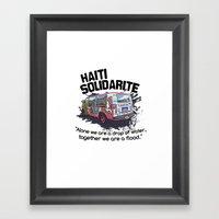 Haiti Solidarity - Ayiti… Framed Art Print