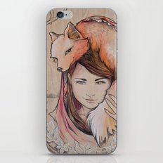 Safe in My Red Riding Hood, Balsa iPhone & iPod Skin