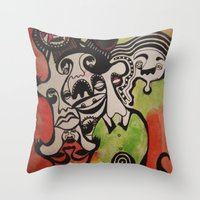 The Joke Isn't Funny Any… Throw Pillow