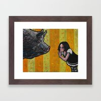 Shh, piggy! Framed Art Print