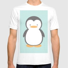 Penguin Dotz Mens Fitted Tee White SMALL